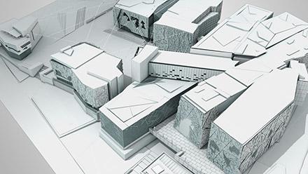 Federation Square - 3D Model