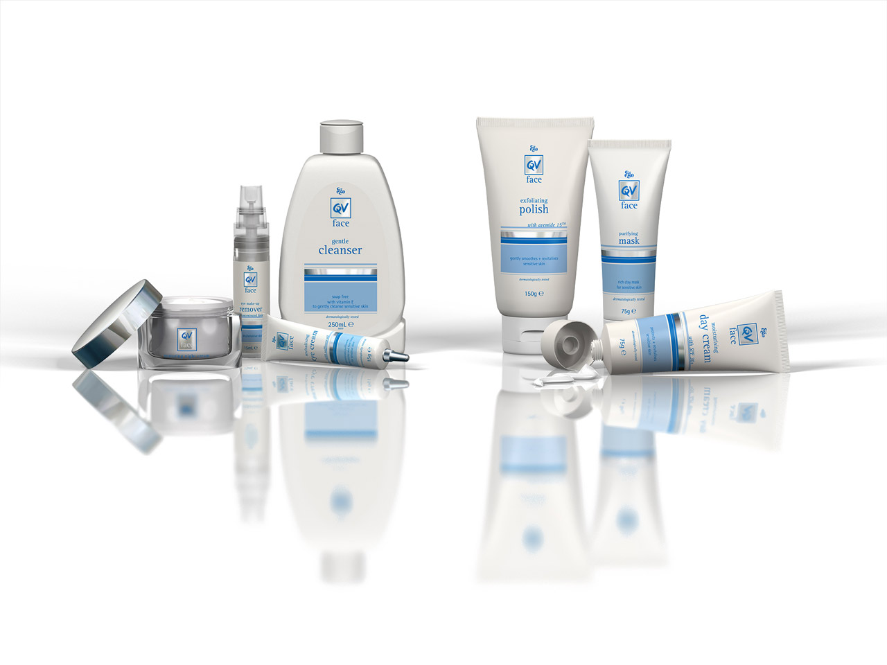 QV Skincare - 3D Product Renders