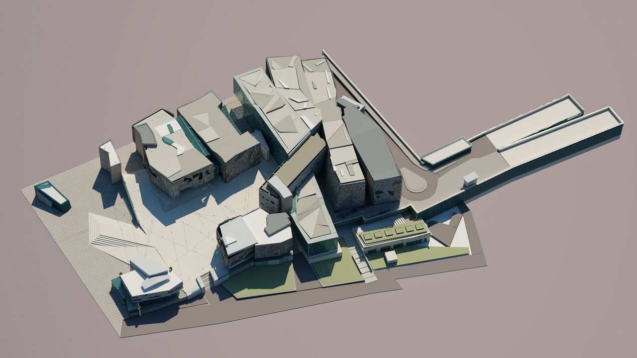 Fed Square 3D model