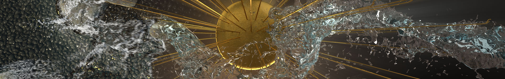 Wonder of Gold - Abstract Fluid Simulation Sequence