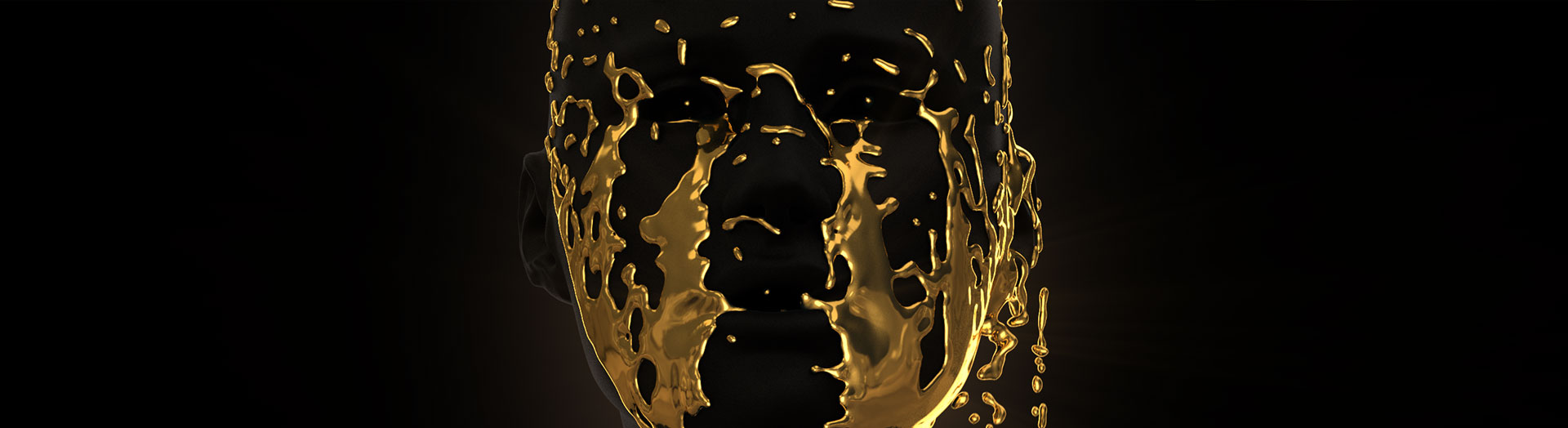 Still frame - Wonder of Gold Exhibition - 3D Fluid Simulation Melbourne based Reel Pictures