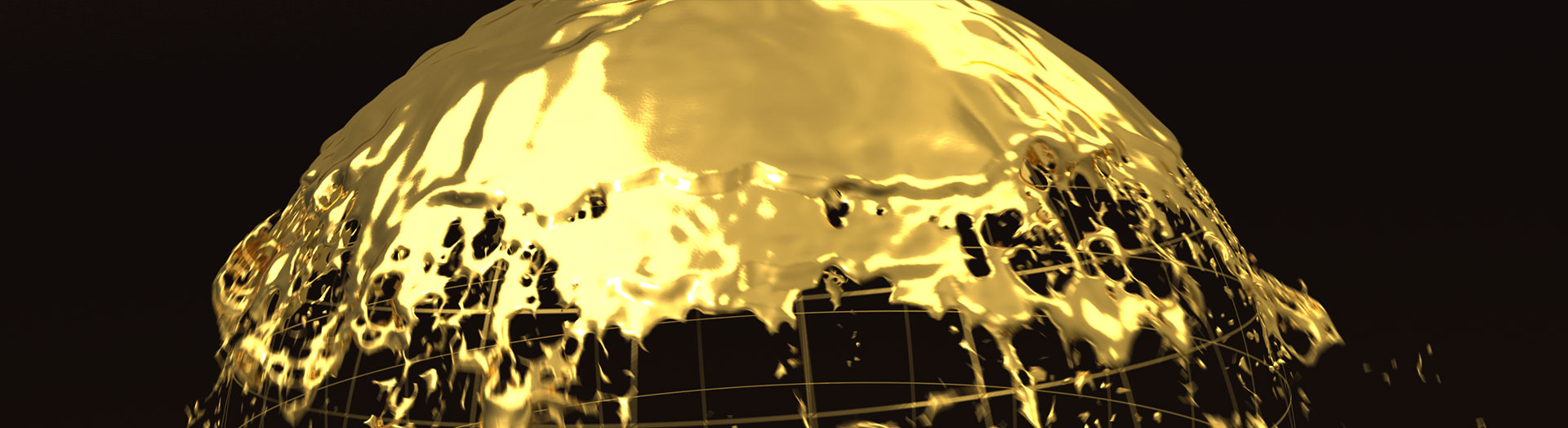 3D Liquid animation of earth being formed by Gold