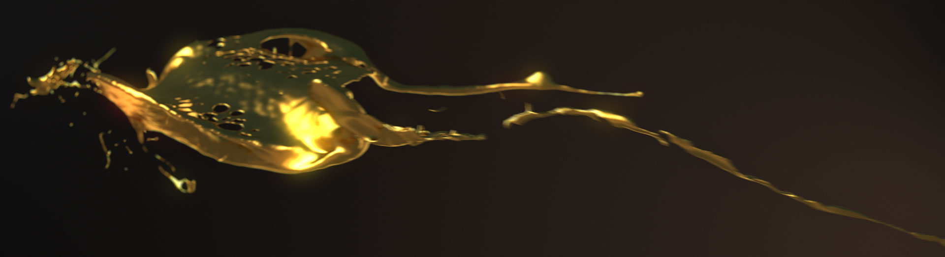 liquid gold animation from the Wonder of Gold Exhibition