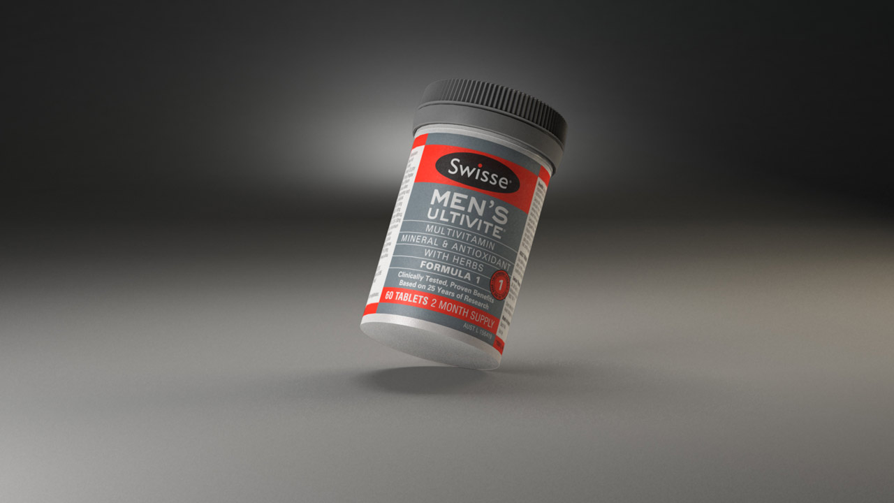 Swisse - Mens Ultivite 3D Product Render
