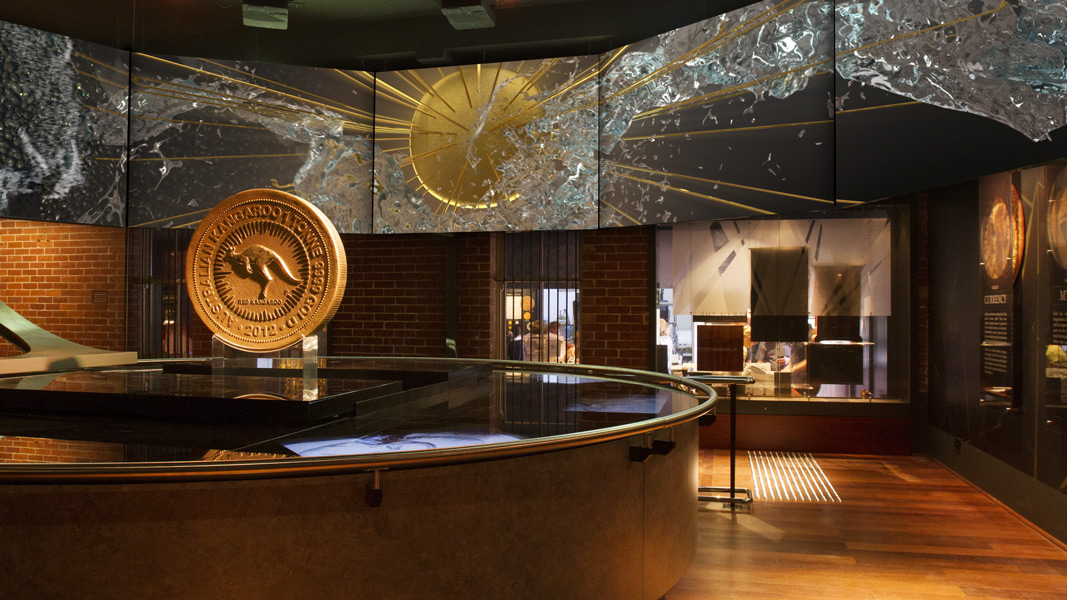 Photograph of the Perth Mint Gold Exhibit